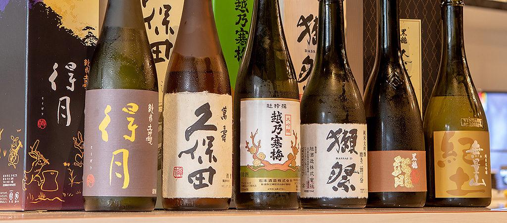 舞鶴市の山下酒店監修のもと厳選された日本酒・焼酎を取り揃え