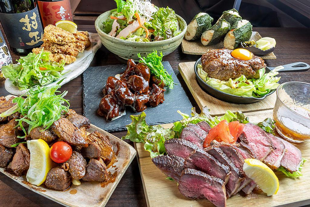 ジビエ料理満載の宴会コースもあります